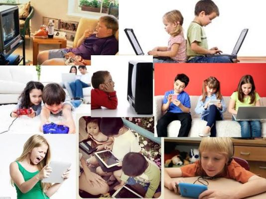 Children addiction to screen