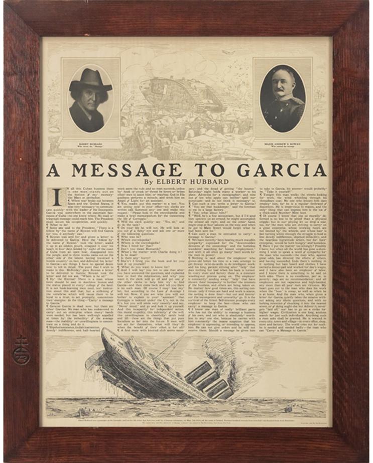 Message to garcia essay