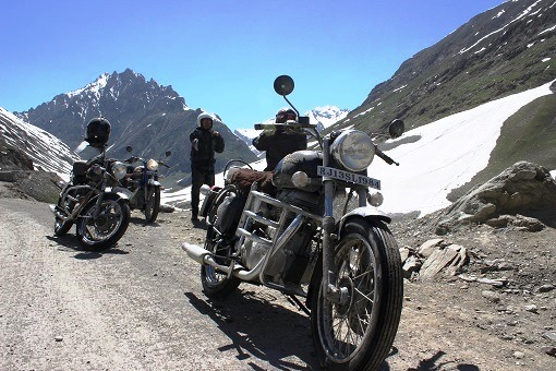 Crossing Zojila pass is an ordeal. The road to the Pass gets washed away every winters due to snow. And there are long queues of trucks to cross - interesting for bikers - And once you are across - it is heaven again ..