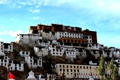The beautiful Thikse Monastery on the way to Pangong Lake