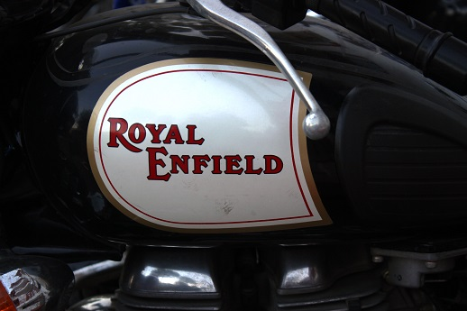 This is Indian War Horse, the Royal Enfield 500 cc. Most suitable motorcycle for rides in Greater Himalayas.