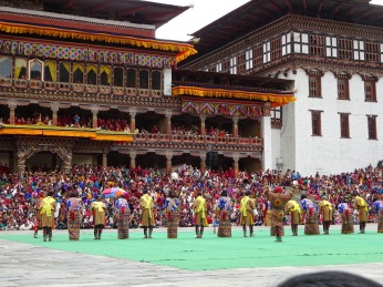 Thimphu Tsechu is a grand show, attended by King himself